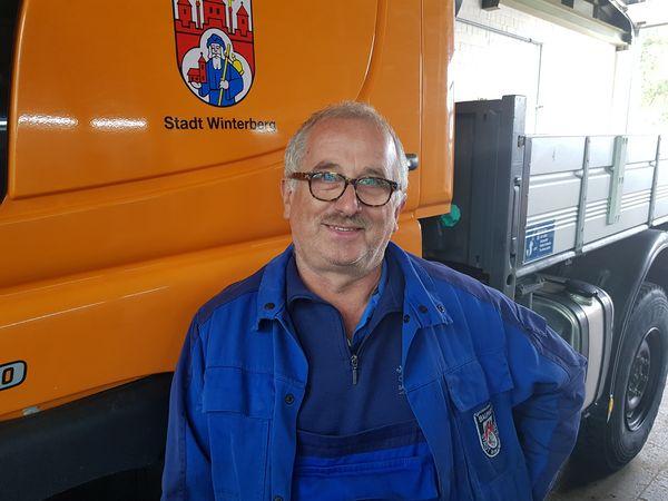 Bauhofmitarbeiter Klaus Keitsch