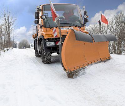 Ein Schneeschieber im Einsatz.